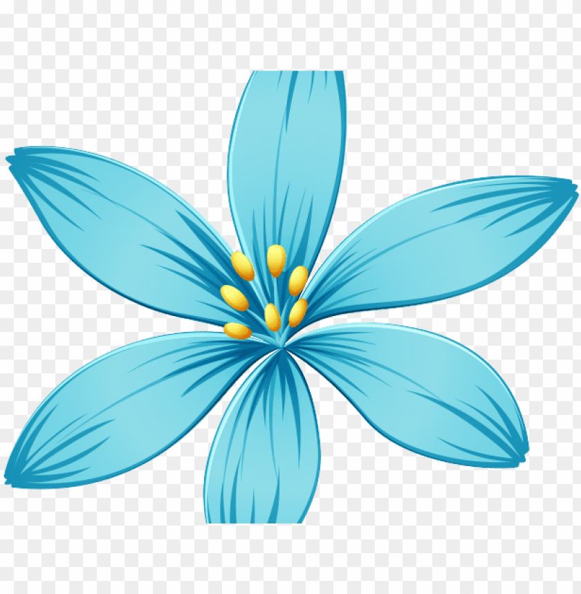 blue flower clipart blue jasmine.