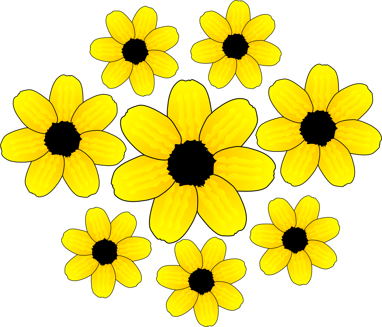 Free Yellow Flower Clipart, Download Free Clip Art, Free.