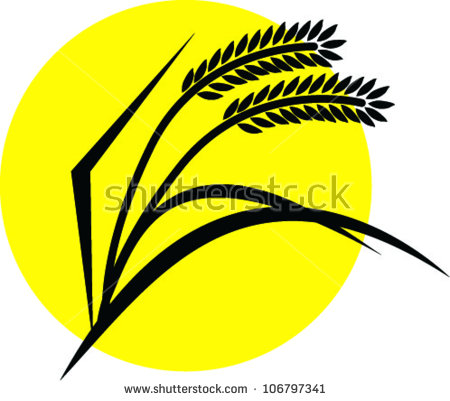 Rice Paddies Clip Art.