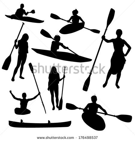 Paddle Silhouette Clipart