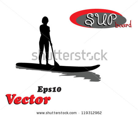 Paddleboard Vector Stock Images, Royalty.