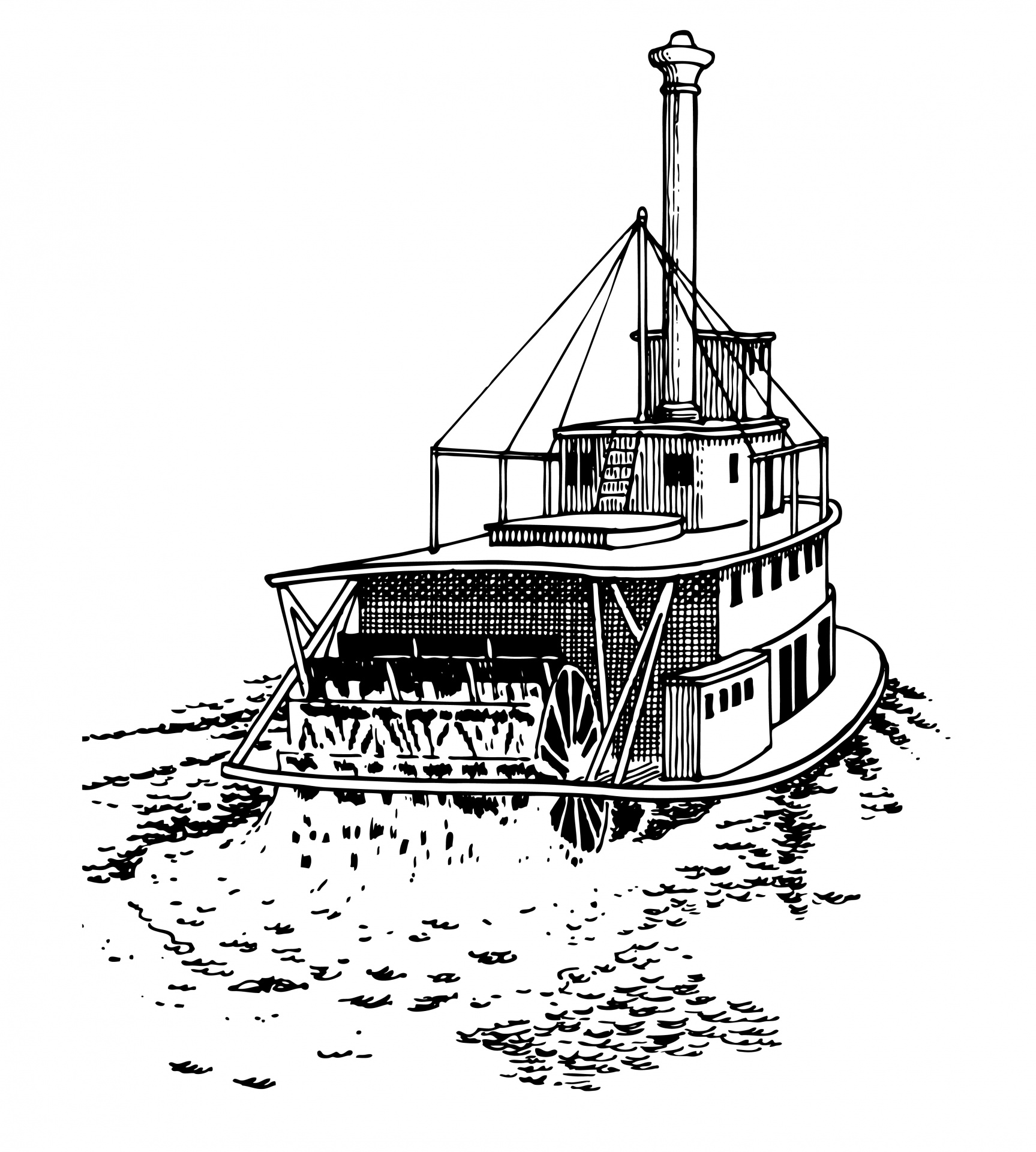 Paddle Steamer Clipart Free Stock Photo.