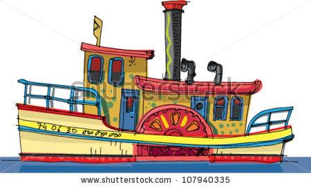 Passenger Steamer Stock Vectors Images Vector