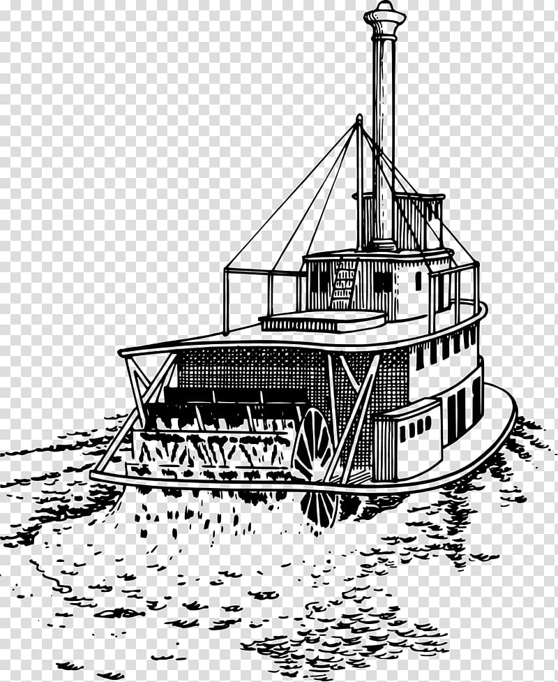 Steamboat Riverboat Paddle steamer Ship, drawings.
