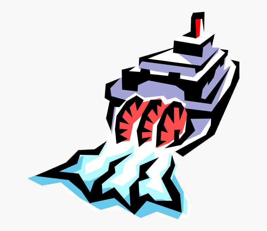 Vector Illustration Of Mississippi Paddleboat Or Paddle.