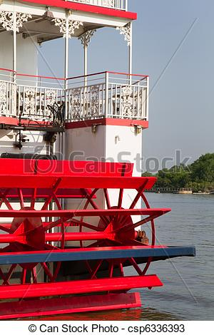 Stock Photos of River Steamboat Paddle Wheeler.