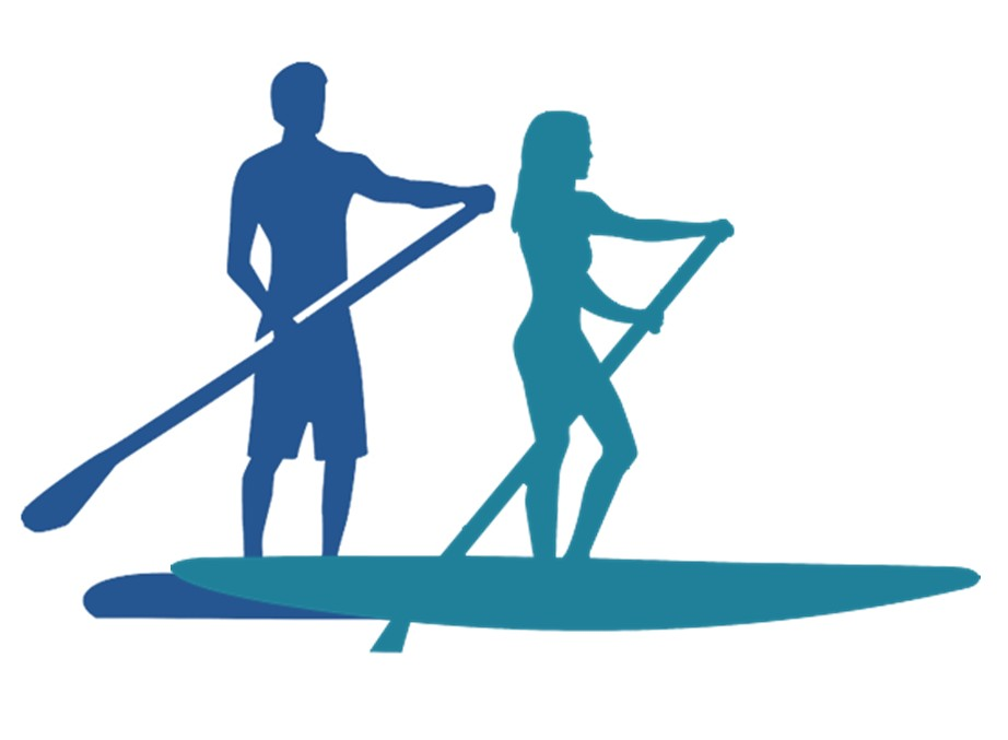 Stand Up Paddle Board Clipart.