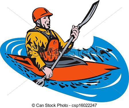 Kayak paddling Clip Art and Stock Illustrations. 1,435 Kayak.