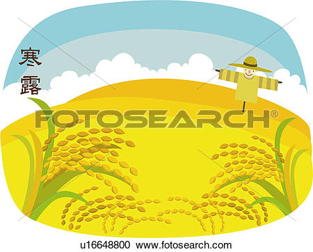 Rice field Clip Art Vector Graphics. 312 rice field EPS clipart.