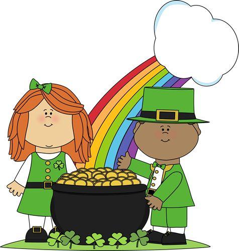 Saint Patrick's Day Children Clip Art.