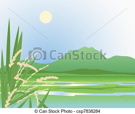 Paddy field Vector Clip Art Royalty Free. 206 Paddy field clipart.