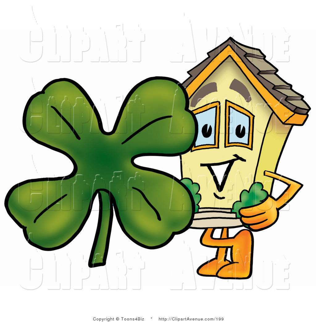 Avenue Clipart of a Yellow Home Mascot Cartoon Character.