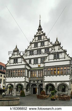 Stock Photo of Paderborn town hall, Germany k16398852.