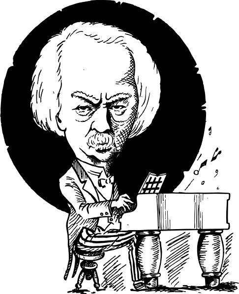 Ignacy Jan Paderewski clip art Free Vector / 4Vector.