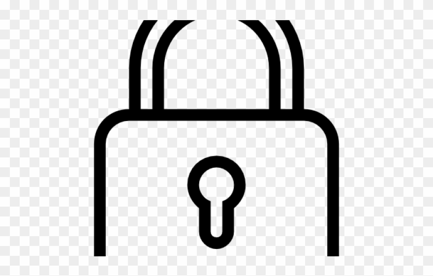 Padlock Clipart Black And White.