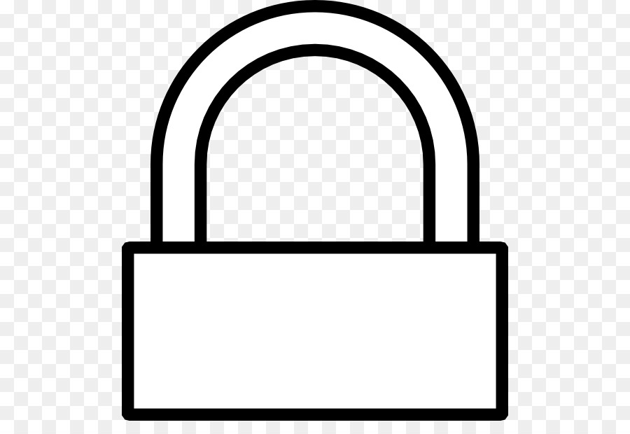 padlock black and white clipart Padlock Clip art clipart.