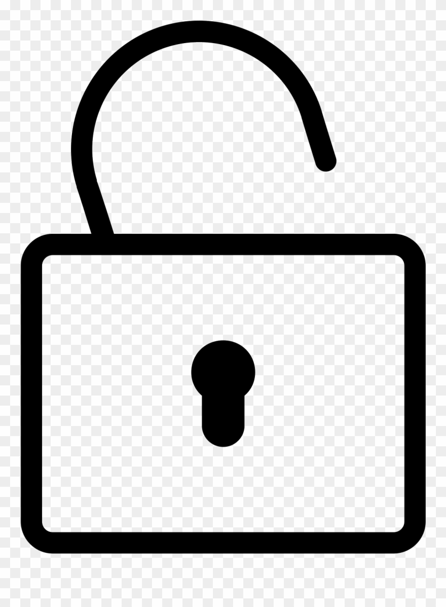 Png Black And White Padlock Png Icon.
