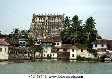 Stock Photo of Sri Padmanabhaswamy Temple Thiruvananthapuram,Kera.