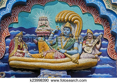 Stock Photography of Vishnu Padmanabha k23998390.