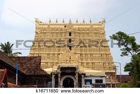 Stock Photography of Sree Padmanabhaswamy Temple. k16711650.