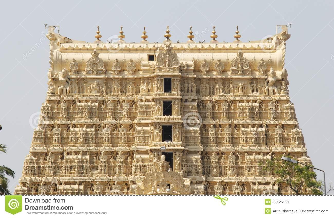 Sri Padmanabhaswamy Temple In Trivandrum Kerala India Stock Photo.