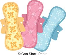 Sanitary pads Clipart Vector Graphics. 100 Sanitary pads EPS clip.