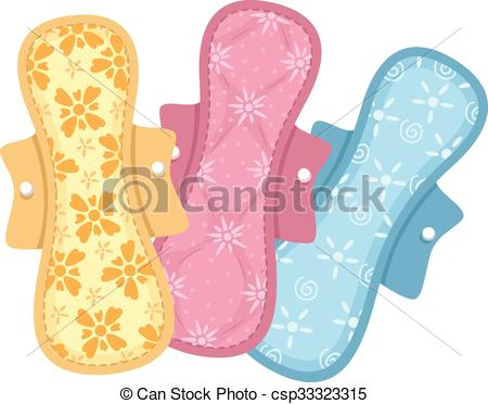 Vector Clip Art of Colorful Cloth Pads.