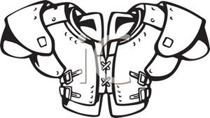 Set of Shoulder Pads For Football Players.