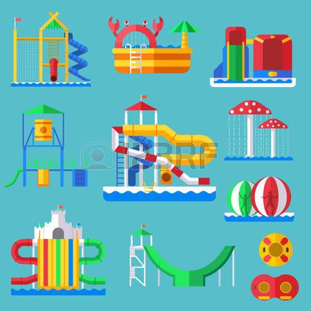 84 Amusement Aquapark Stock Vector Illustration And Royalty Free.