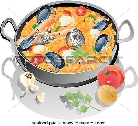 Seafood paella Stock Illustrations. 22 seafood paella clip art.