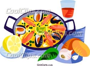 EU European cuisine paella Clip Art.