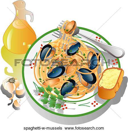 Stock Illustrations of Seafood Paella seafood.