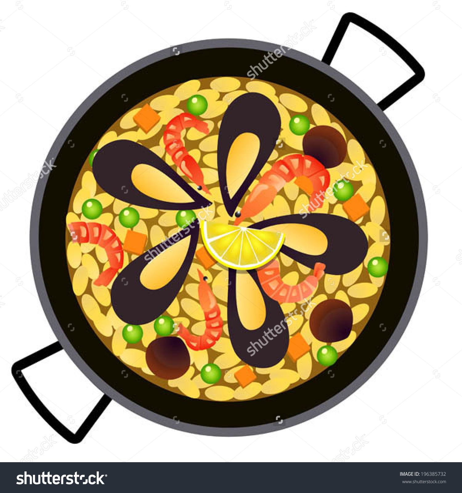 Spanish paella clipart.