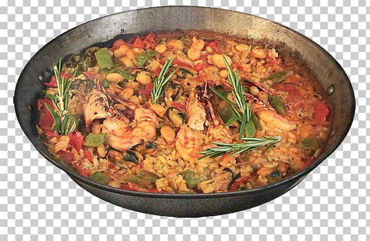 Paella Spanish Cuisine Biryani Recipe Bomba Rice PNG.