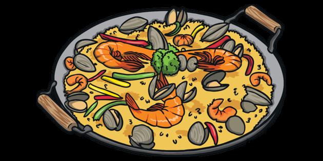 Paella Illustration.