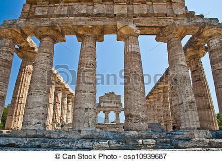 Pictures of Paestum temple.
