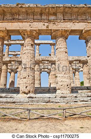 Picture of Paestum temple.