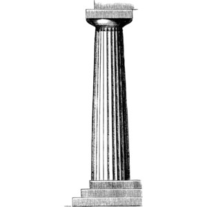 Doric Column from the Temple of Neptune at Paestum Clipart.