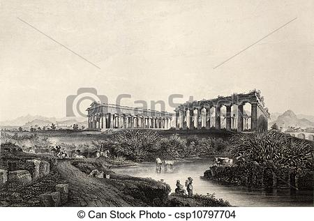 Stock Illustration of Paestum.