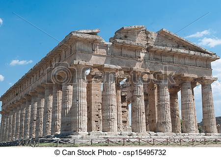 Stock Photos of Acropolis of Paestum. One of the most important.