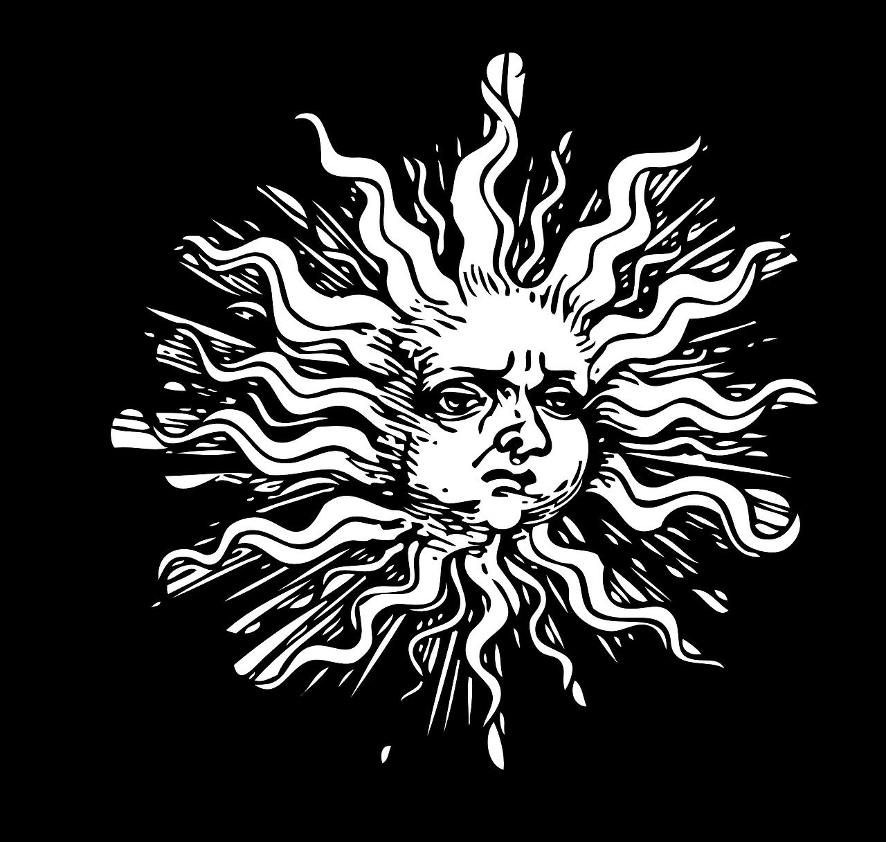 Sun Summer Solstice Pagan PNG.