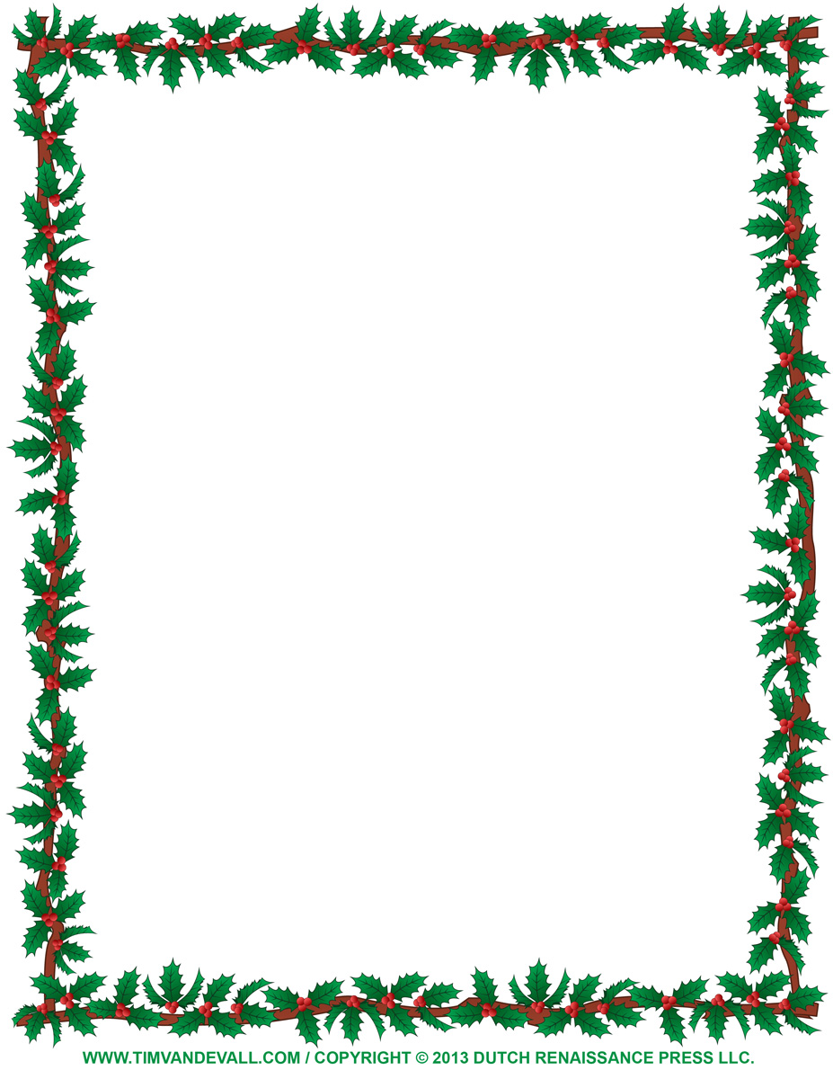 free christmas clipart borders for word #19