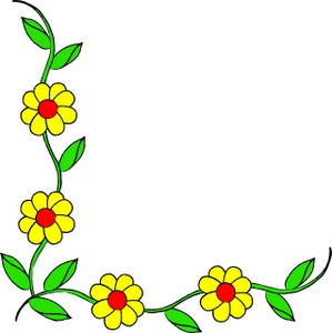 Yellow flower clipart banner hawaii.