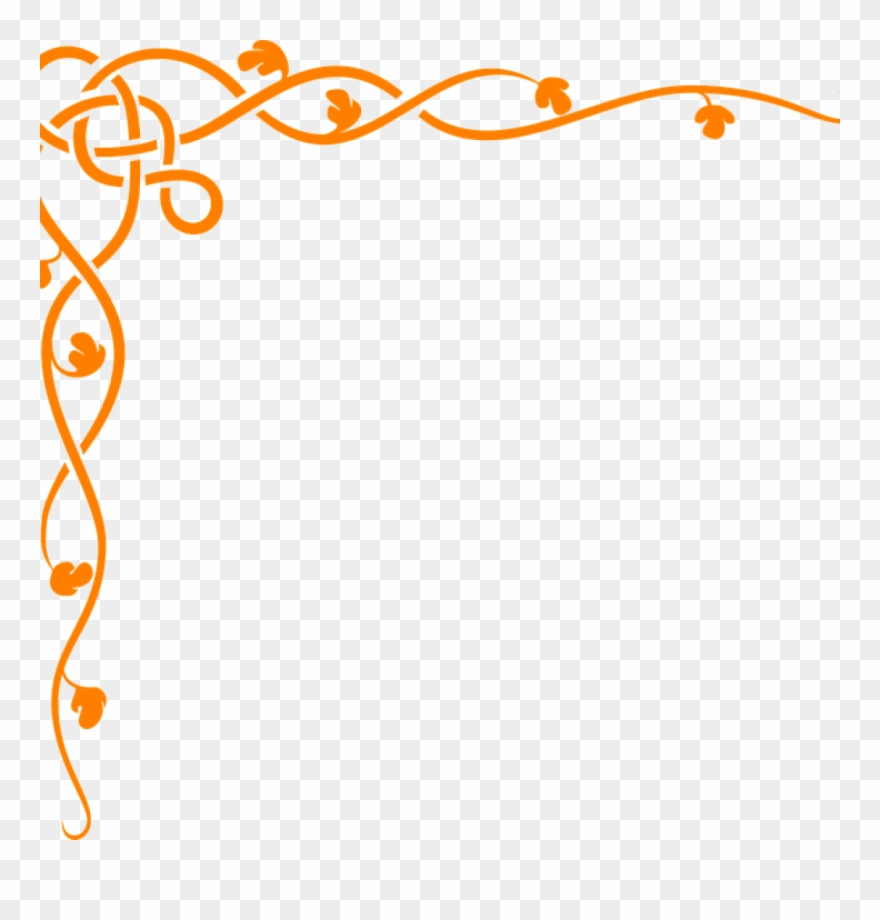 Corner Page Borders Flower Page Border Free Vector.