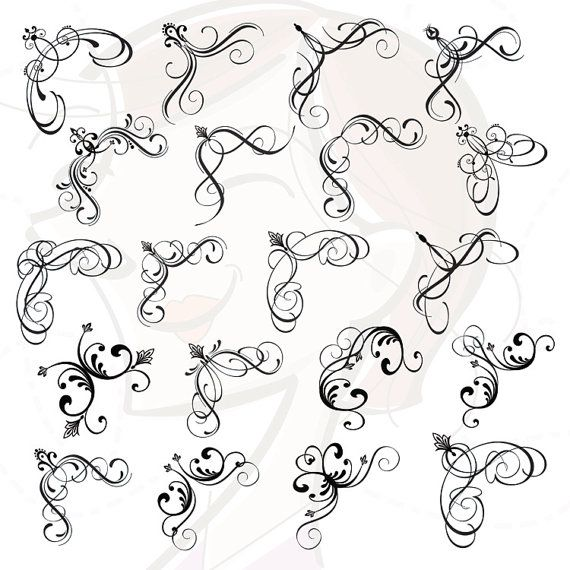 Decorative Corners Clipart.