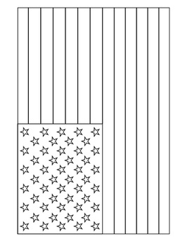 American Flag Clipart & Coloring Pages.