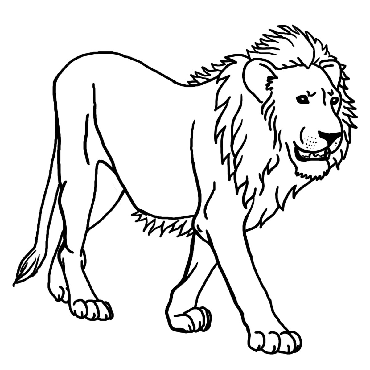 Clip Art: Baby Animals: Lion Cub Color 1.