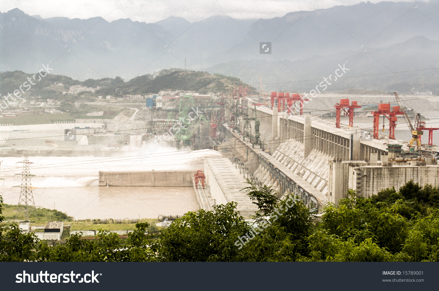 Three Gorges Dam China On Yangtze Stock Photo 15789001.