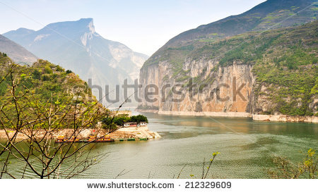 Yangtze Three Gorges Stock Photos, Royalty.