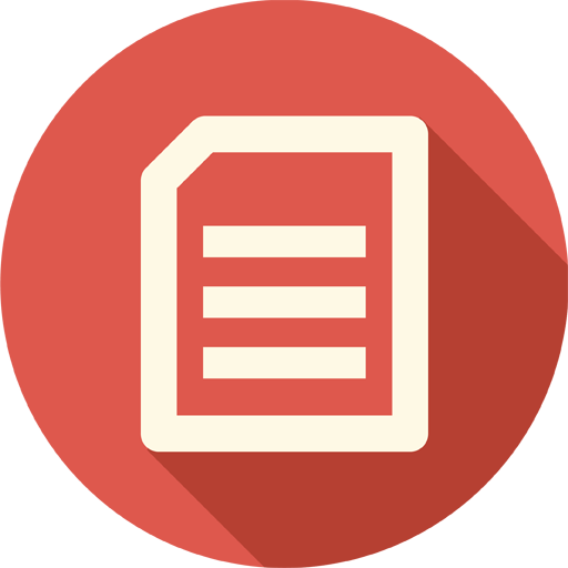 Circle, document, documents, extension, file, page, sheet.